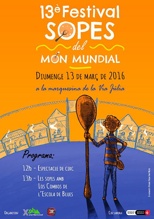 13e Festival de Sopes del Món Mundial de Nou Barris, Barcelona