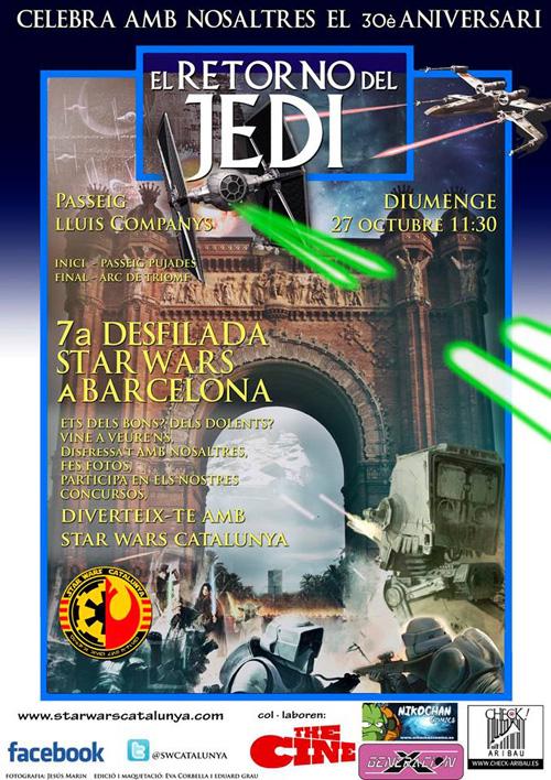 7a Desfilada Star Wars a Barcelona