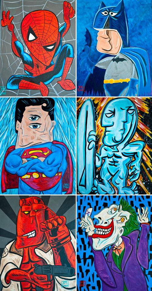 Superherois picassians