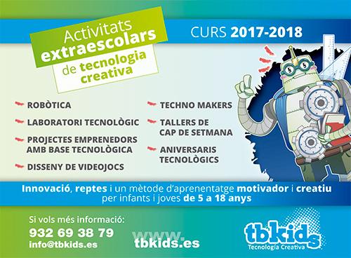 Activitats extraescolars de tecnologia creativa, amb TbKids