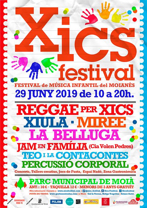Guanyadors de 2 packs familiars per Xics Festival, Festival de Música Infantil del Moianès
